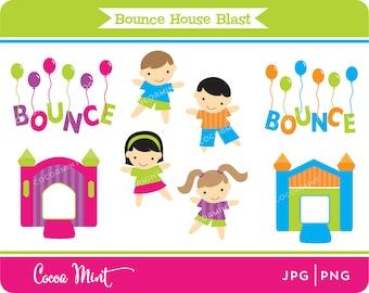 Bounce House Blast Clip Art