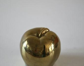 Vintage  Brass Apple paper weight