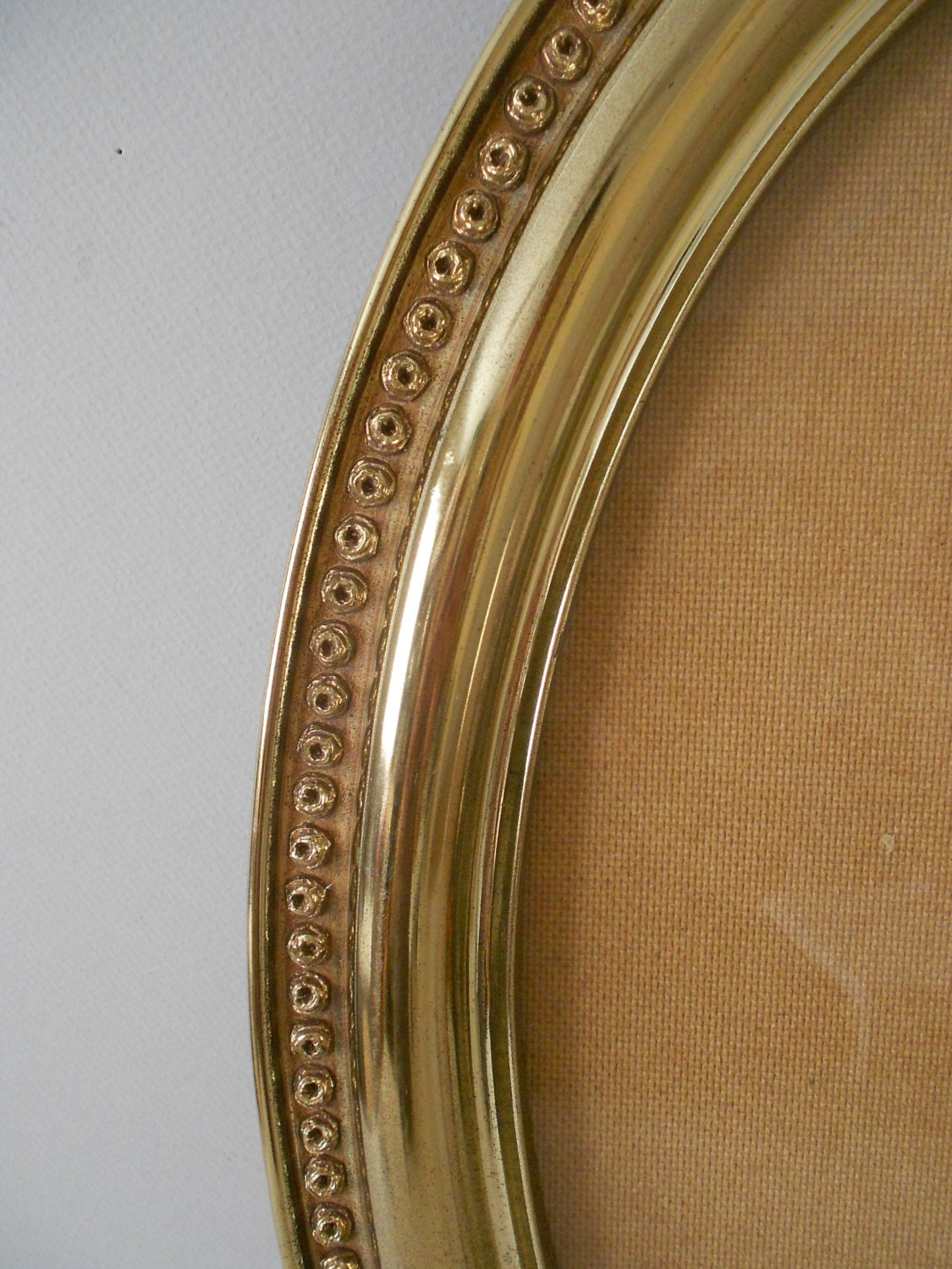 Extra Large Gold Vintage Oval Picture Frame Homco 23 X 19