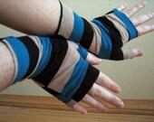 Fingerless Gloves - Striped - Armwarmers - Festival