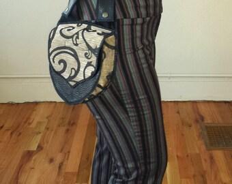 Gold with Black Swirls - Utility belt - Snap on Pocket - Hip Bag - Pocket belt - Festival belt - Money belt - Fanny Pack