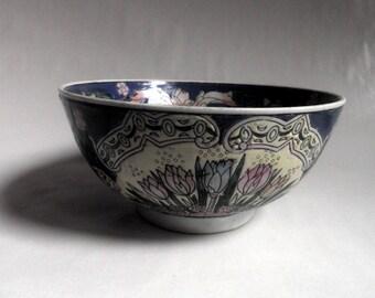 vintage Chinese Porcelain Bowl, hand painted, decorative Ceramics