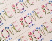 Set of 10 unused Floral Love stamps from 1982. Perfect for wedding invitations