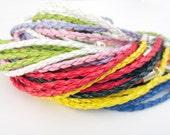 10 braided leather rope bracelets