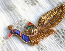 Gorgeous Peacock Applique - Opulent Applique in blue with sequins and rhinestones (1)