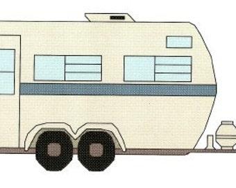 Camper or Rv Cross Stitch Pattern