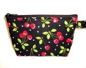 Cherry Print Makeup Bag