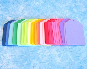 Blank Tags - 50 Assorted Color Blank Hang Tags 2 5/16 x 1 9/16