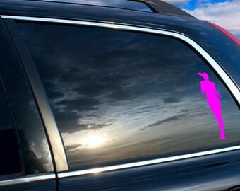 running car sticker, running car decal, Women Runner silhouette Car sticker, Women runner silhouette car decal, Runner's silhouette