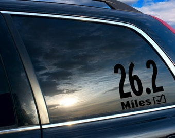 26.2 Car sticker, 26.2 car decal, 26.2