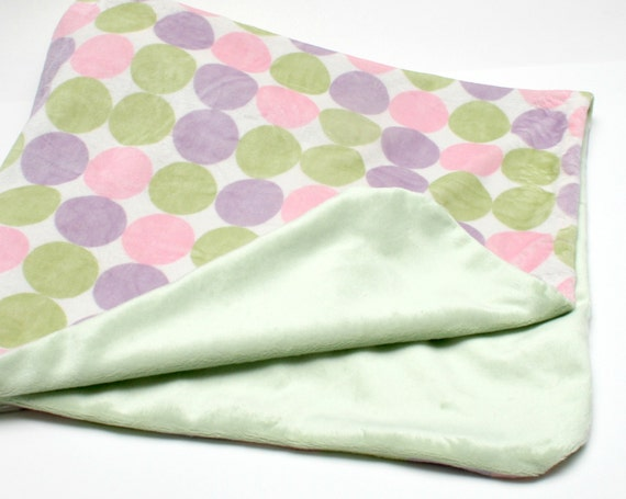 JUST ONE LEFT Lovely Baby Blanket in Pastels