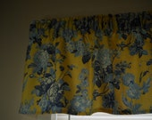Yellow and blue floral valance