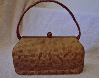 IGUANA Handbag from 30s / Vintage/Antique bag