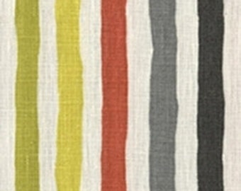 Anthropologie inspired table runner paint stripes