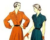 Vintage 1940s Dress Pattern Bust 36 Size 18 Advance 4935