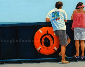 Daytrippers - Oil Painting - 11x14in. Print
