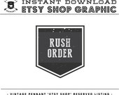 INSTANT Download - Vintage Pennant RUSH ORDER Listing Image for Etsy Seller's Shop Marketing