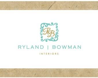 SALE - 50% off - PreDesigned Custom One of A Kind Vector Logo Design RYLAND BOWMAN Logo