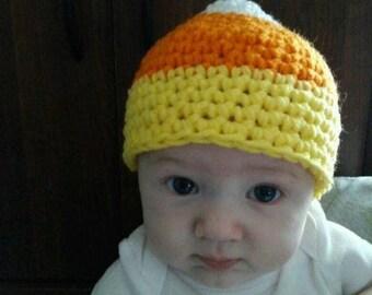 Crochet Baby Candy Corn Hat