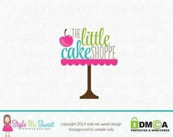 Premade Bakery Logo Cake Stand Logo Bakers Logo Design Baking Logo Design Graphic Design Bespoke Logo Design Premade logo Design Watermark