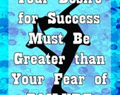 Success or Failure -Your Choice of Colors- Figure Skating Poster- Print can be personalized- Choose your size