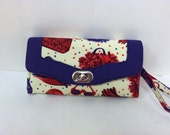 Necessary Clutch Wallet in Red Hat Ladies Fabric