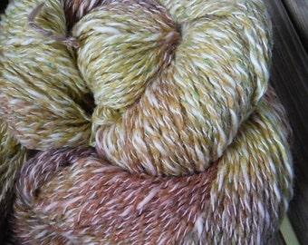 DK Weight Yarn - Pecan Pie Silk Blend - Farmhouse Yarn -  4 oz skeins - 350 yards