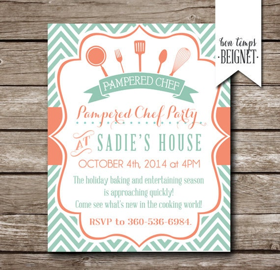 Pampered Chef Party Invitation Bridal Shower Invitation – Tupperware Party Invitation