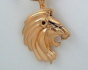 LION PENDANT/ENHANCER in 18K Gold-plated Sterling