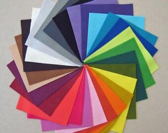 5 x 5.5 in Complete Bamboo Felt Sampler set - 28 colors