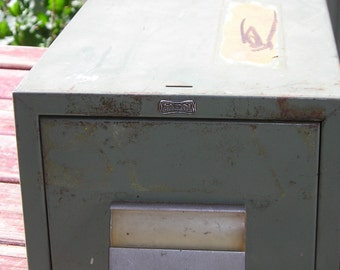 Shabby Vintage Industrial File Drawer from Carla Jean's Vintage