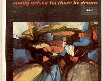 Sandy Nelson, Let There Be Drums with Richard Podolor on Guitar, Vintage Vinyl Record Album Imperial Records 12080 Classic Drumming LP