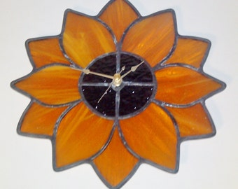 Stained Glass Flower Clock