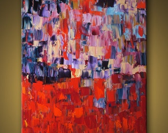 "Huge Painting - Original Large Abstract Modern Art Oil Painting MADE-TO-ORDER 48''x60"" - Michel Campeau"