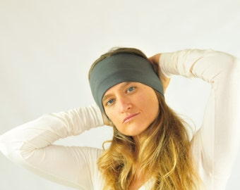 Workout Headband - Universal Size  - Gray - Organic Clothing - Eco Friendly - Several Colors Available