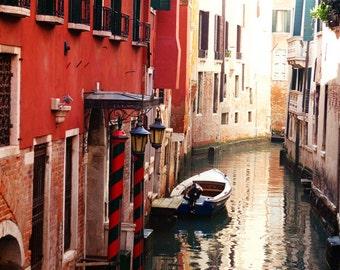 Italy Photograph - Fine Art Photography, Venice, Italy, canal, print, tranquil, home decor, wall art, italy art, colorful, art, travel photo