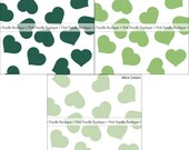"""SHIMMER HEART CONFETTI (100 pc) -- 1/2"""" or 3/4"""" -- Emerald, Fairway Green, Mint/Pastel -- pif.pay it forward.aok"""