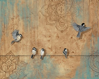 Arrival and Departure...Fine Art Giclee Print by Kimberly Fox....home decor...available in different sizes