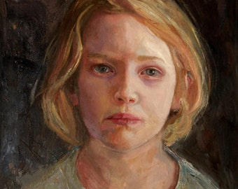 Hannah, Large Archival Giclee Print of Original Oil Painting Portrait