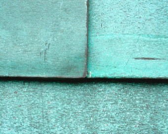 Teal Squares, Lines,  Minimalist, Abstract, Simple, 8x10, Photograph, Texture, Scratches, Blue, Turquoise