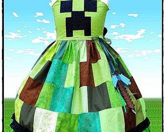 Custom Minecraft Creeper Character Dress