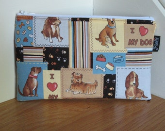 Zippered Pouch - Dogs