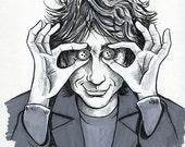 Inktober Sketch: Neil Gaiman