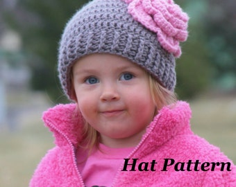 Elizabeth Crochet Hat Pattern For Child : Popular items for toboggan pattern on Etsy