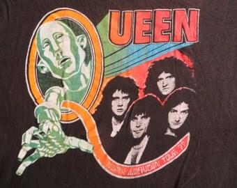 QUEEN 1977 tour T SHIRT