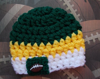Greenbay Packers inspired baby hat - team props - sports props - made to order