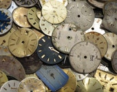 100 Old Watch Dials Distressed FACES Vintage Steampunk ART Supply
