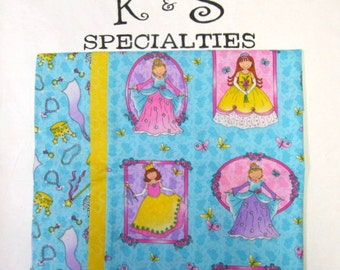 Personalized Custom Monogrammed Pillowcase With Princesses In Mirrors-A Girly Girl Gift