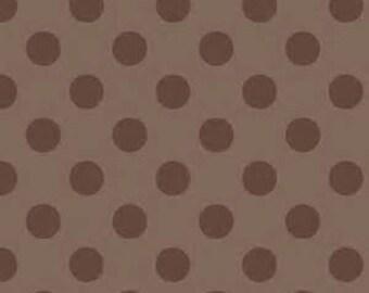Riley Blake Medium Brown Dots  - Cotton