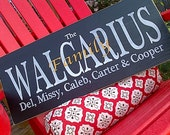 Custom, Personalized family last name wooden sign by Dressingroom5